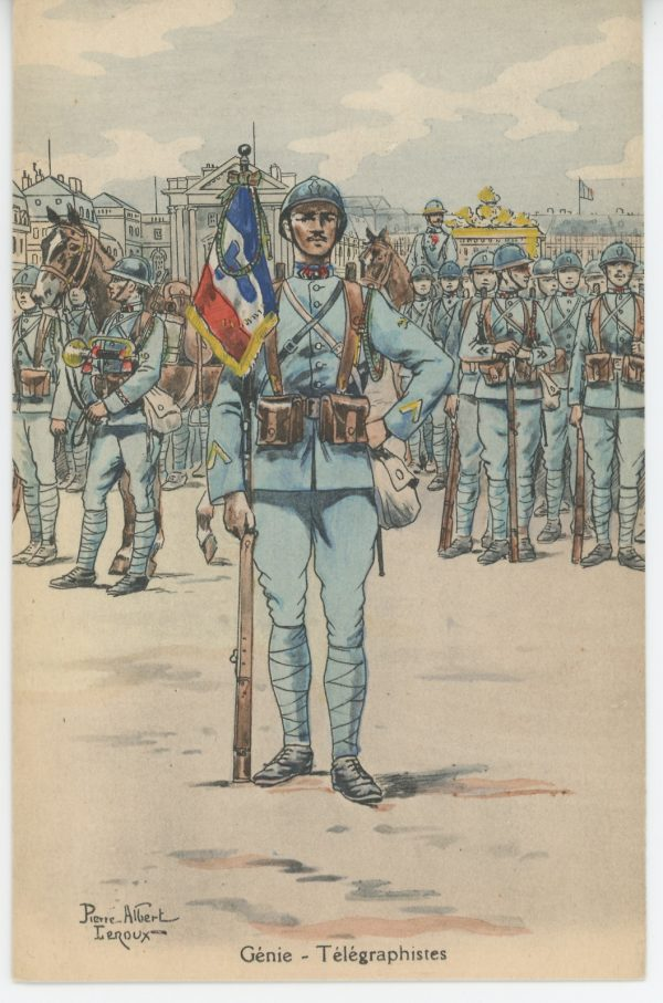 Carte Postale Illustrée - Pierre Albert Leroux - Edition Militaire Illustrées - Génie - Télégraphiste - 1930