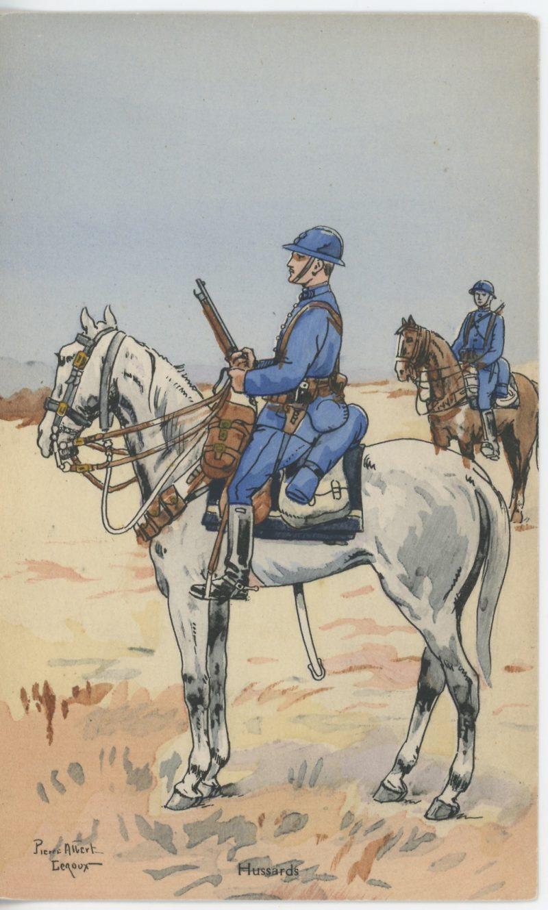 Carte Postale Illustrée - Pierre Albert Leroux - Edition Militaire Illustrées - Hussards - 1930