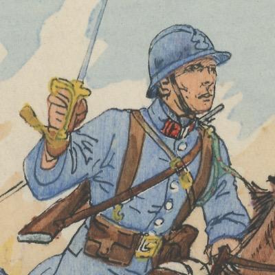 Carte Postale Illustrée - P.V.Robiquet - Edition Militaire Illustrées - Cuirassier - 1930
