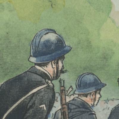 Carte Postale Illustrée - Pierre Albert Leroux - Edition Militaire Illustrées - Chasseurs à Pied Cyclistes - 1930