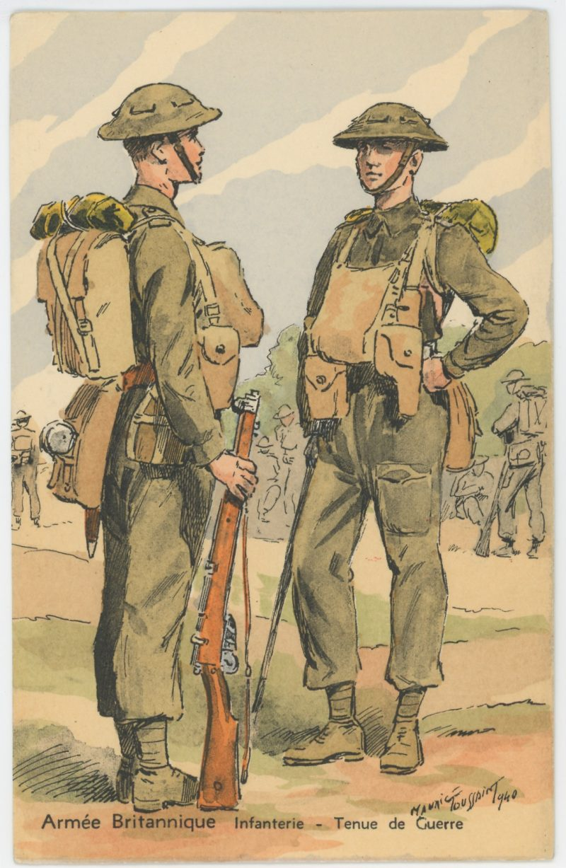 Armée Anglaise - Infanterie- Tenue de Guerre - 1939 - Maurice Toussaint - Uniforme