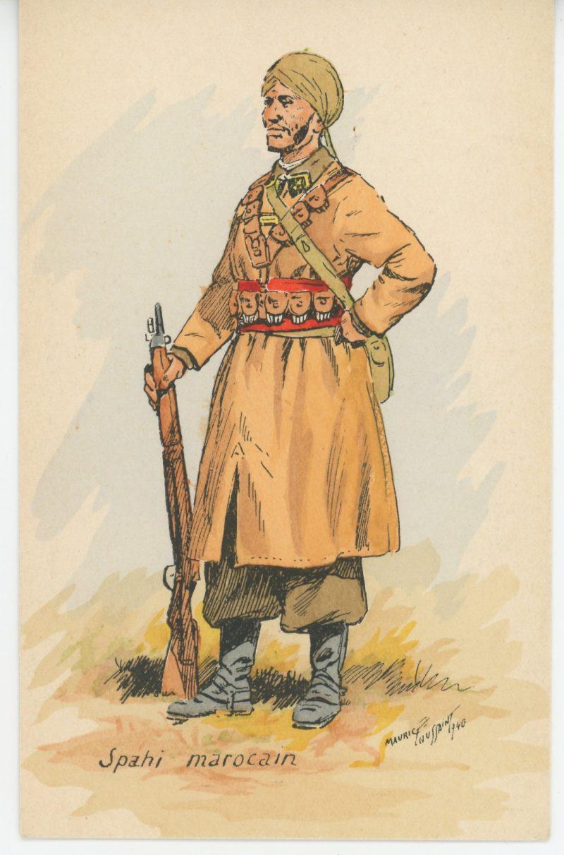Carte Postale Illustrée - Maurice Toussaint - Edition Militaire Illustrées - Spahi Marocain - 1940