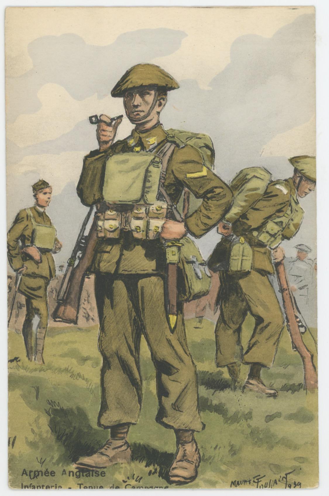 Armée Anglaise - Infanterie- Tenue de Campagne - 1939 - Maurice Toussaint - Uniforme