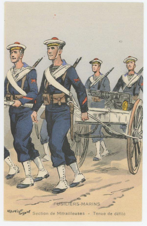 Carte Postale Illustrée - Maurice Toussaint - Edition Militaire Illustrées - Marine - Fusiliers Marins - 1930
