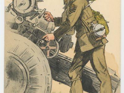 Armée Anglaise - Artillerie - Tenue de Campagne - 1939 - Maurice Toussaint - Uniforme