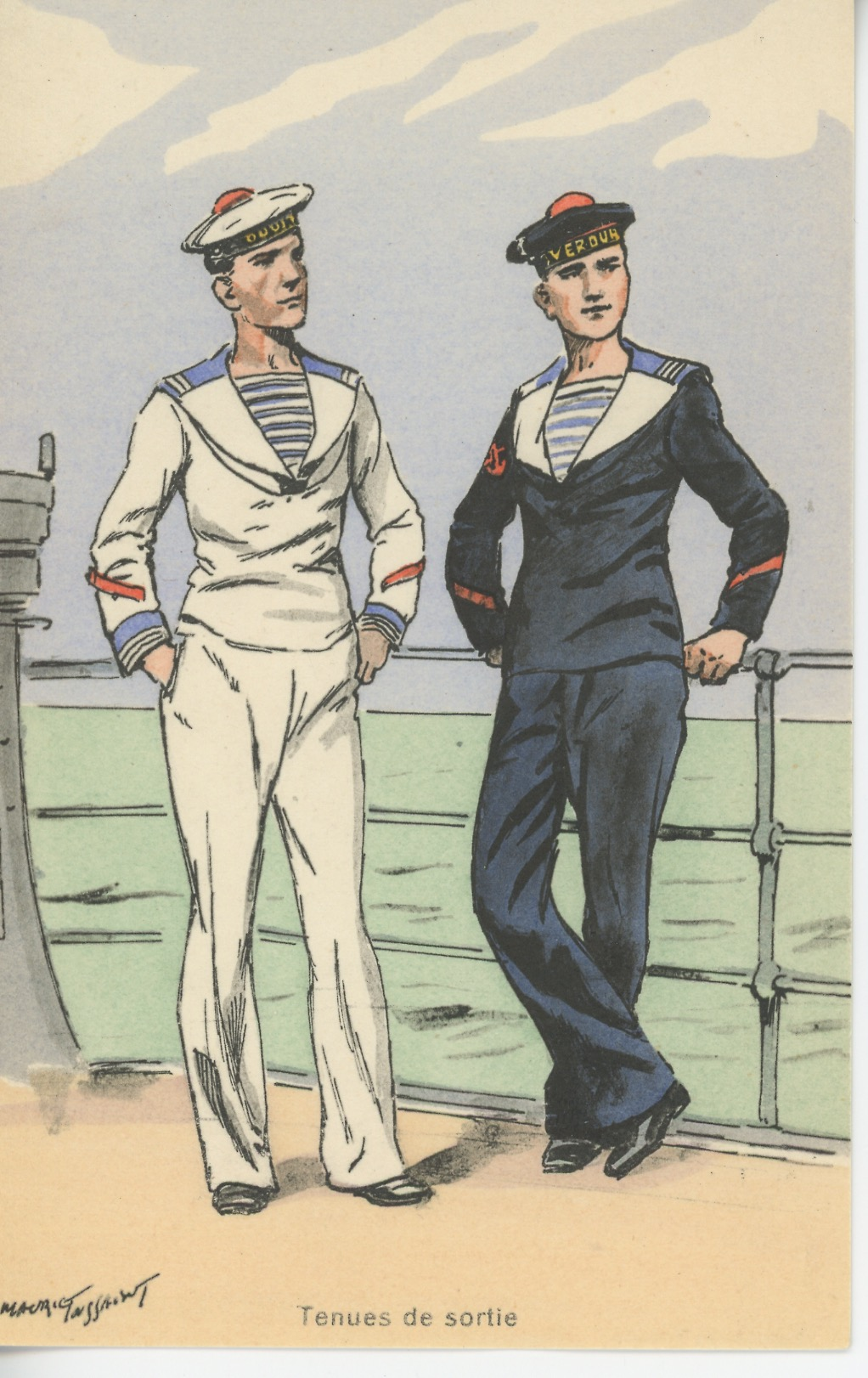 Carte Postale Illustrée - Maurice Toussaint - Edition Militaire Illustrées - Marine - Contre-Amiral - 1930