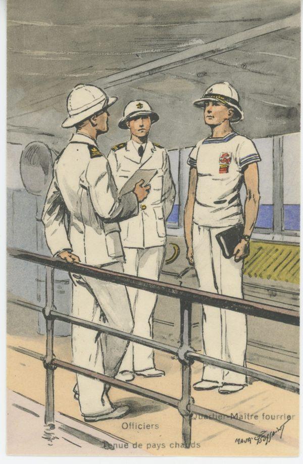 Carte Postale Illustrée - Maurice Toussaint - Edition Militaire Illustrées - Marine - Officiers- 1930
