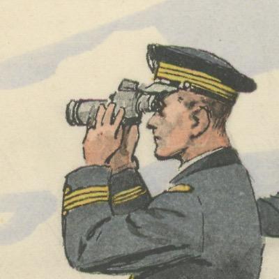 Carte Postale Illustrée - Maurice Toussaint - Edition Militaire Illustrées - Marine - Officier - 1930