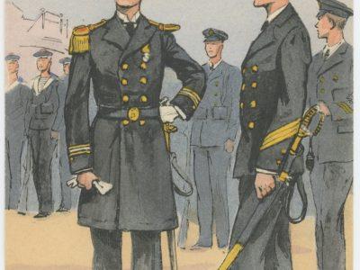 Carte Postale Illustrée - Maurice Toussaint - Edition Militaire Illustrées - Marine - Officiers - 1930