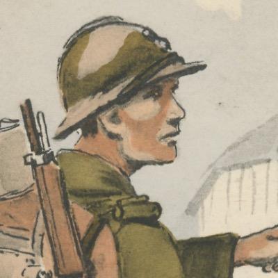 Armée Française - Infanterie de ligne - Tenue de Campagne - 1939 - Maurice Toussaint - Uniforme