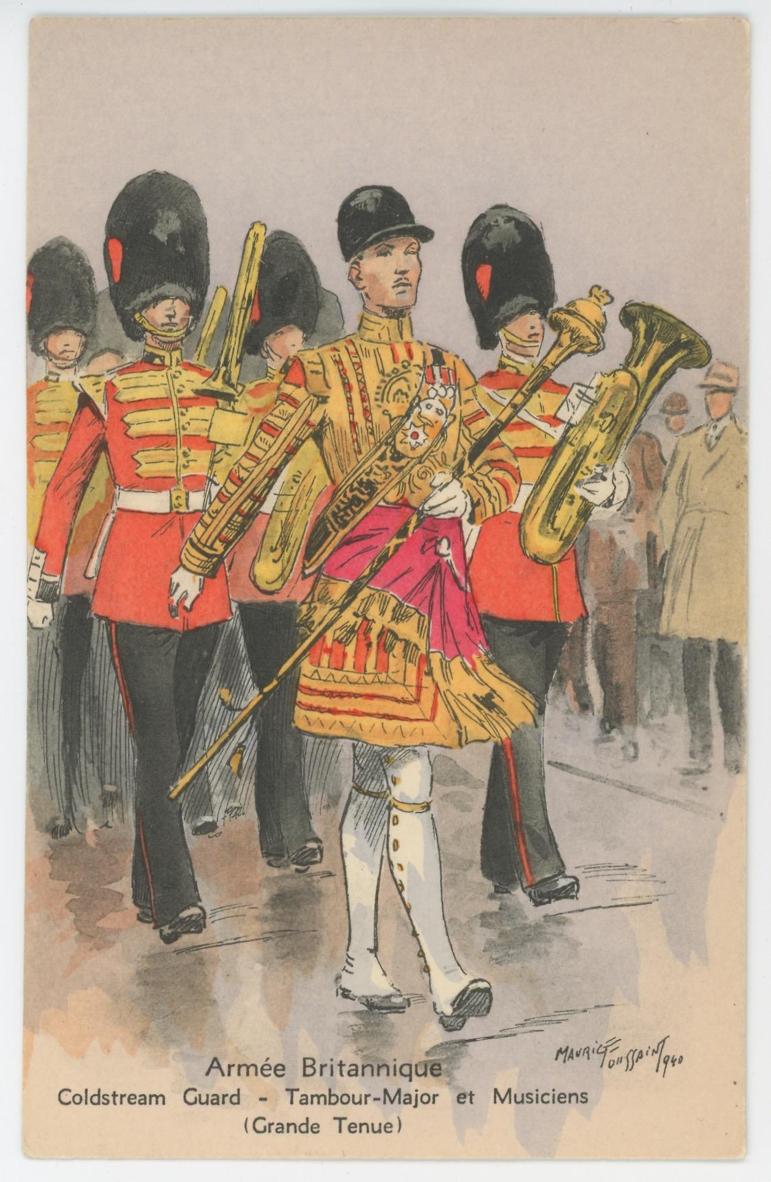 Armée Anglaise Coldstream Guard - 1939 - Maurice Toussaint - Tambour Major