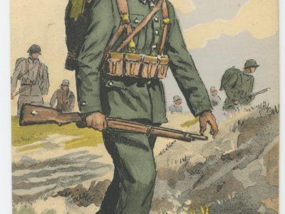 Carte Postale Illustrée - Maurice Toussaint - Edition Militaire Illustrées - Pologne - Infanterie- 1939