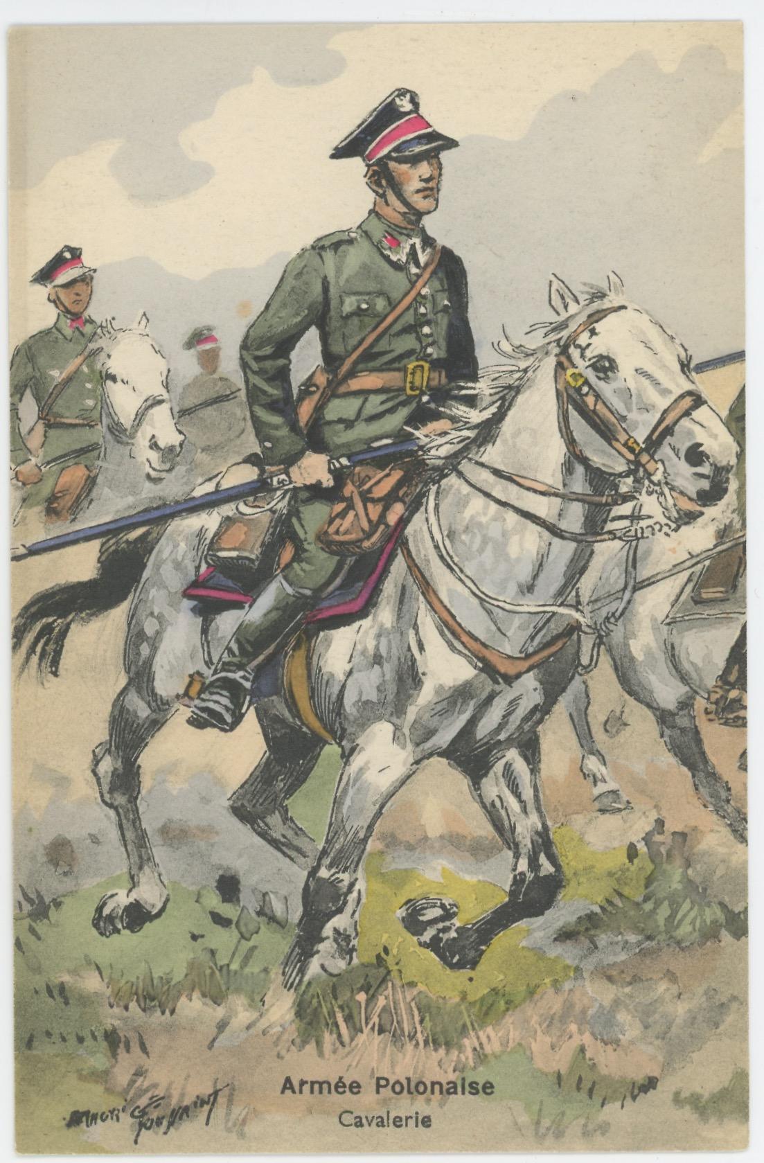 Carte Postale Illustrée - Maurice Toussaint - Edition Militaire Illustrées - Pologne - Cavalerie- 1939