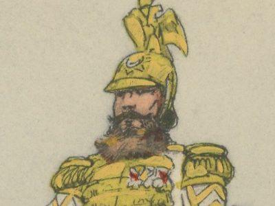 Carte Postale Illustrée - P.V. Robiquet - Edition Militaire Illustrées - Russie - Timbalier Cuirassier - 1914