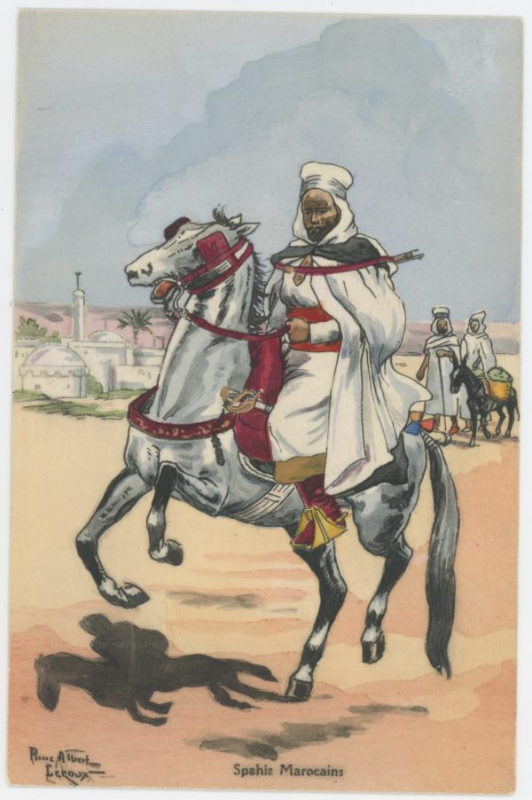Carte Postale Illustrée - Pierre Albert Leroux - Edition Militaire Illustrées - Spahis Marocain - 1930
