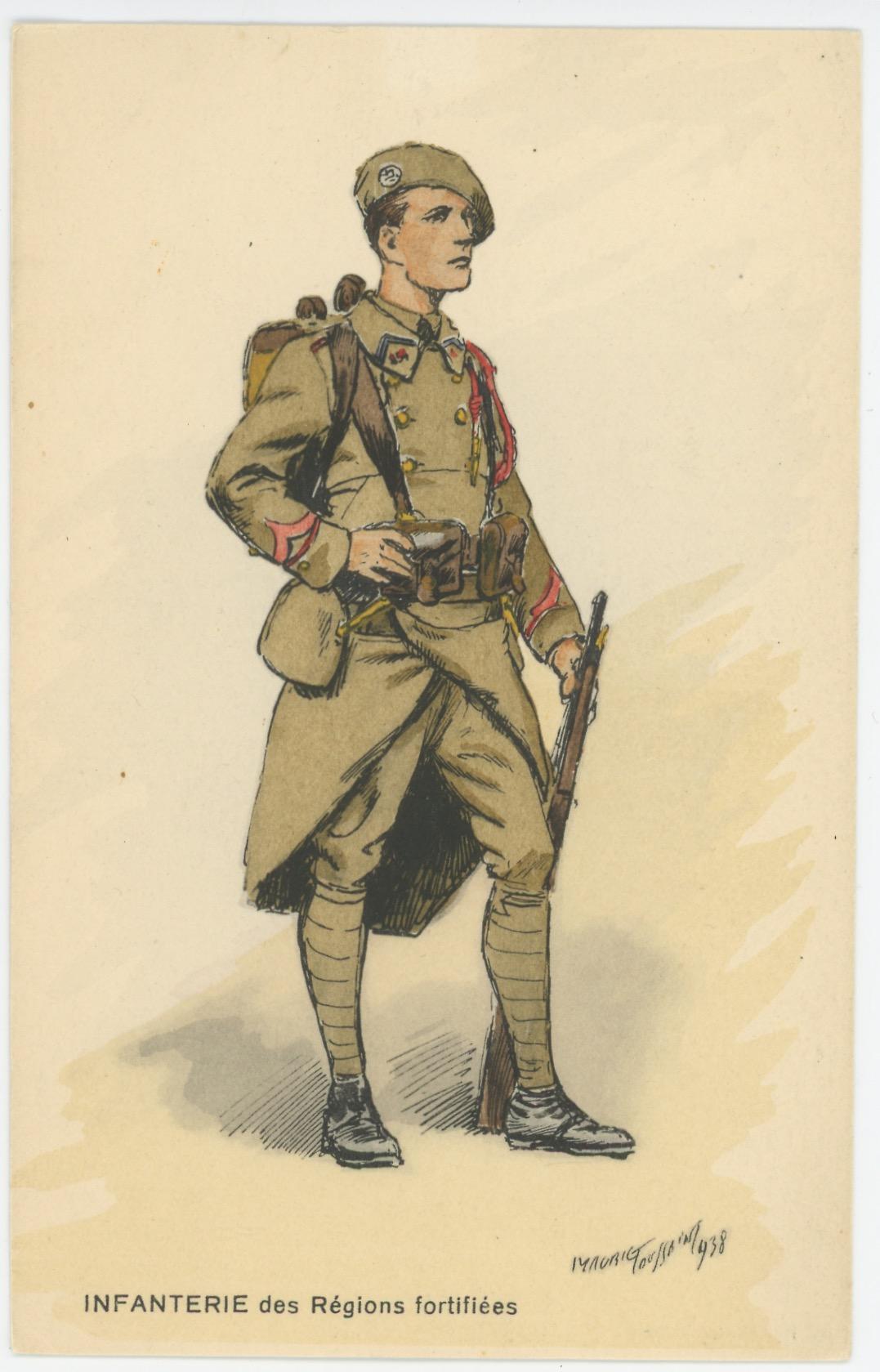 Carte Postale Illustrée - Maurice Toussaint - Edition Militaire Illustrées - Infanterie des Régions Fortifiées - 1940