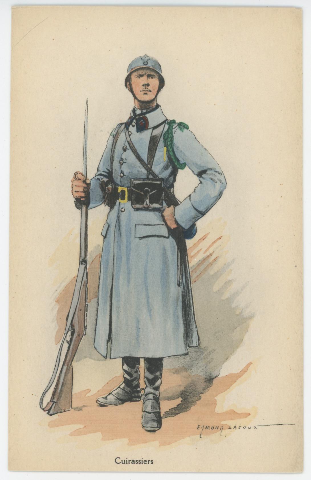 Carte Postale Illustrée - Edmond Lajoux - Edition Militaire Illustrées - Cuirassiers - 1930