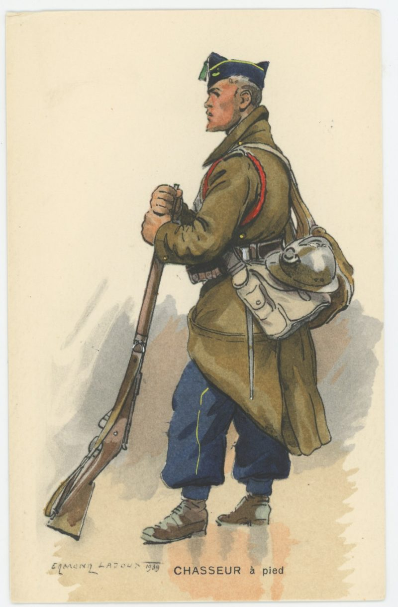 Carte Postale Illustrée - Edmond Lajoux - Edition Militaire Illustrées - Chasseur à Pied - 1940