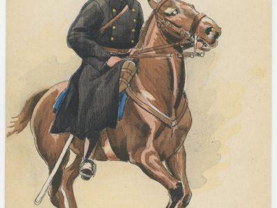 Carte Postale Illustrée - Edmond Lajoux - Edition Militaire Illustrées - Garde Républicaine Mobile - 1940
