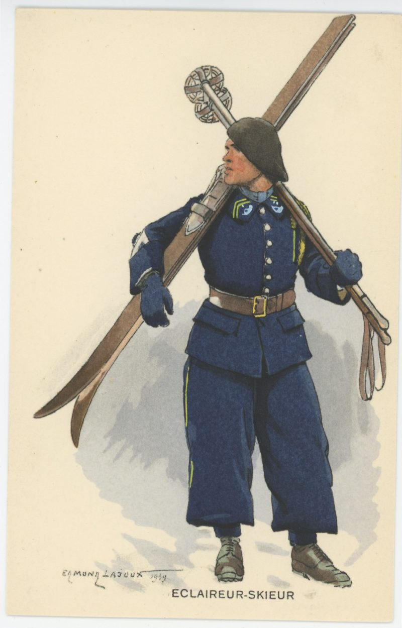 Carte Postale Illustrée - Edmond Lajoux - Edition Militaire Illustrées - Eclaireur Skieur - 1930
