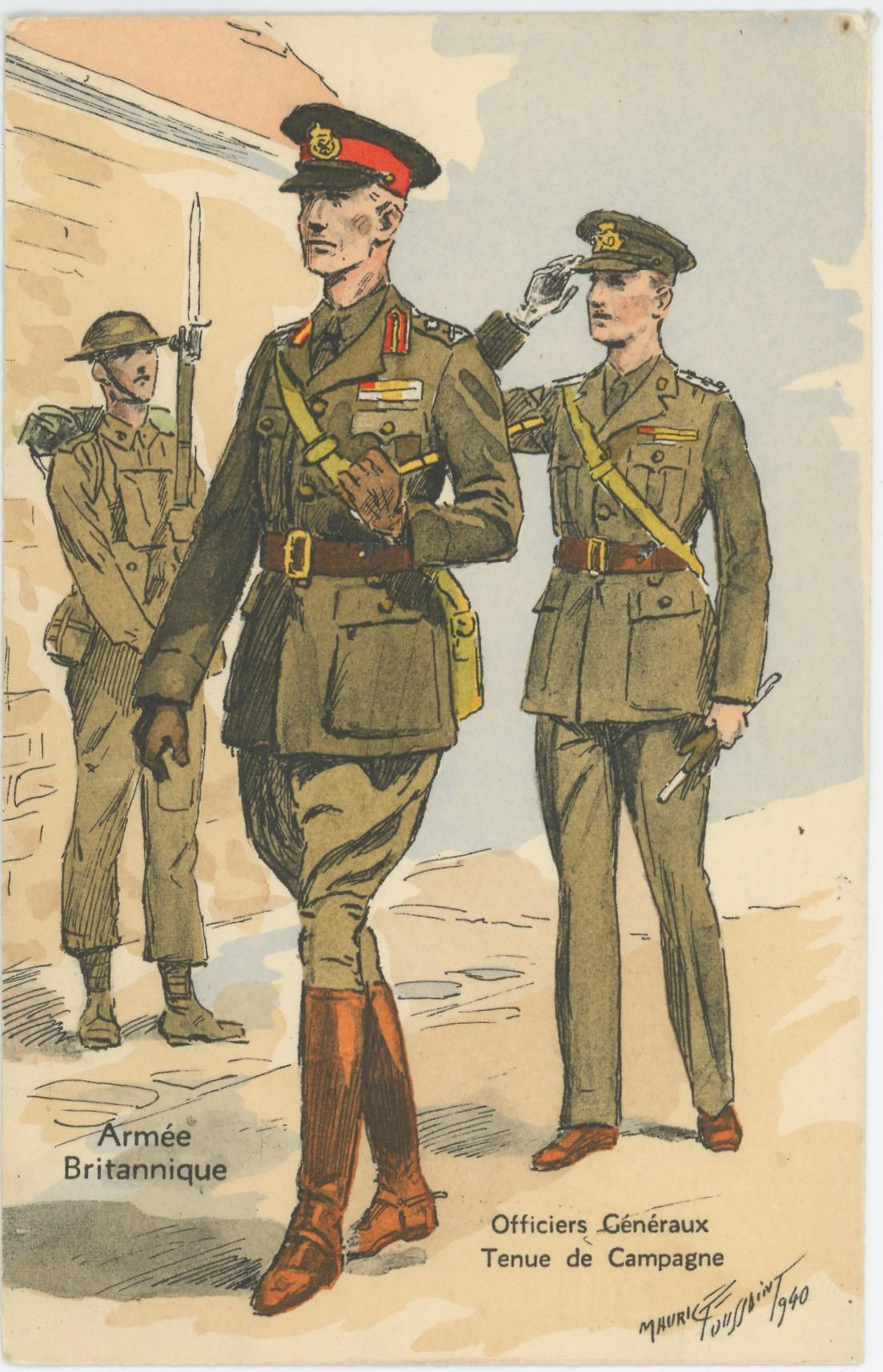 Armée Anglaise - Officiers Généraux - Tenue de Campagne - 1939 - Maurice Toussaint - Uniforme
