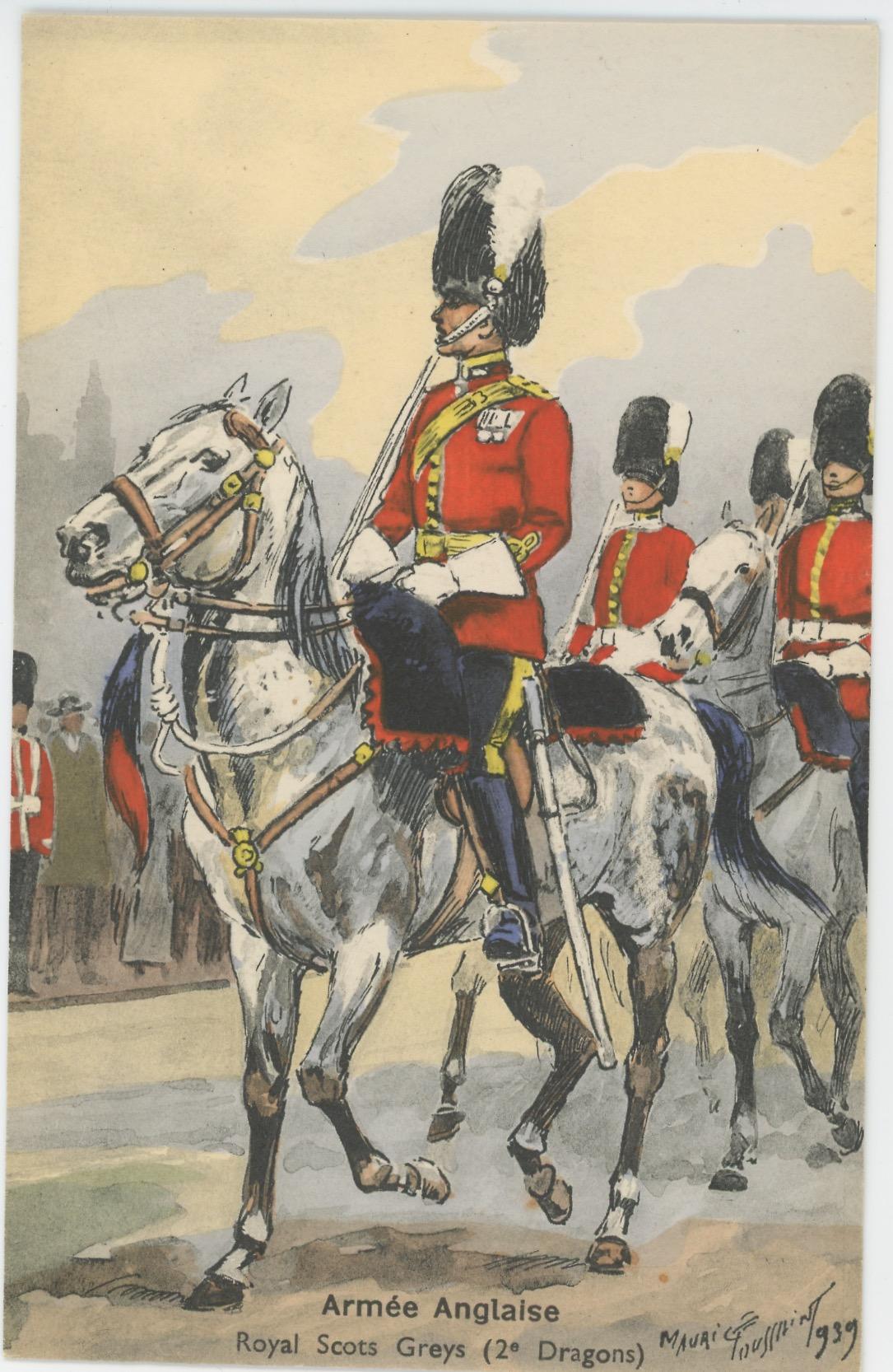 Armée Anglaise Royal Scots Greys 1939 - Maurice Toussaint - Uniforme