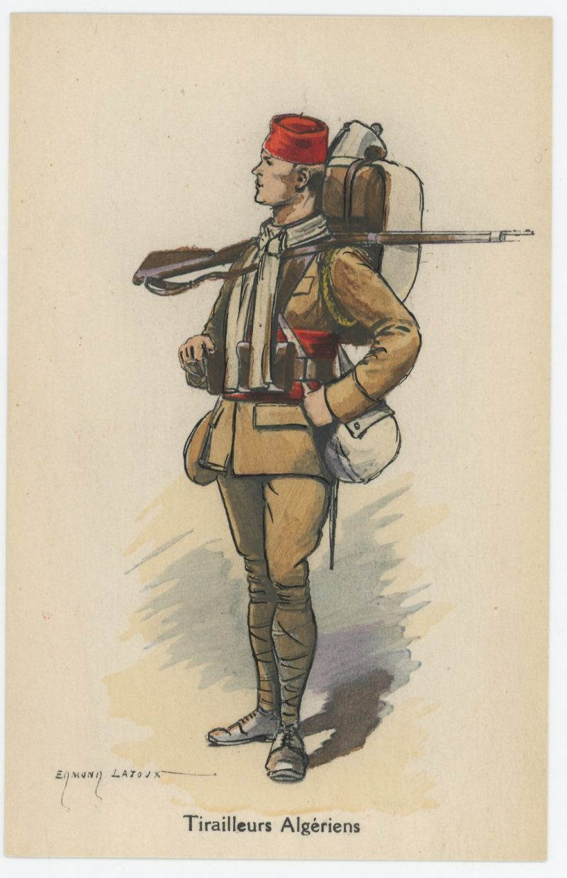 Carte Postale Illustrée - Edmond Lajoux - Edition Militaire Illustrées - Tirailleurs Algériens - 1940