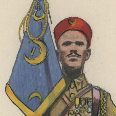 Carte Postale Illustrée - Edmond Lajoux - Edition Militaire Illustrées - Tirailleurs Marocains - 1940