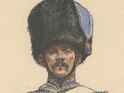 Gravure XX - Hussards 1855 - Uniforme - France - Trompette 8e Hussard - Crimée - Second Empire - Napoléon III - Rouffet 1905