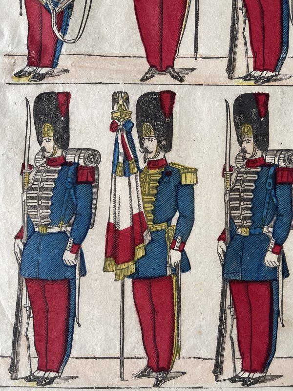 Planche imagerie Epinal - Pellerin Editeur - N°291 - Grenadier de la garde Impériale - Second Empire - Armée Française