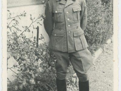 Carte photo - Soldats Allemand - Uniforme Wehrmacht - Photographie 1944 - Alsace - Décès - Guerre 39/45 - Occupation