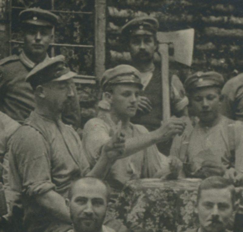 Ancienne Photographie - Guerre 14/18 - Armée Allemande - Infanterie Garde - Prusse / Alsaciens - Front Vosges - Chalet - Jeu de cartes