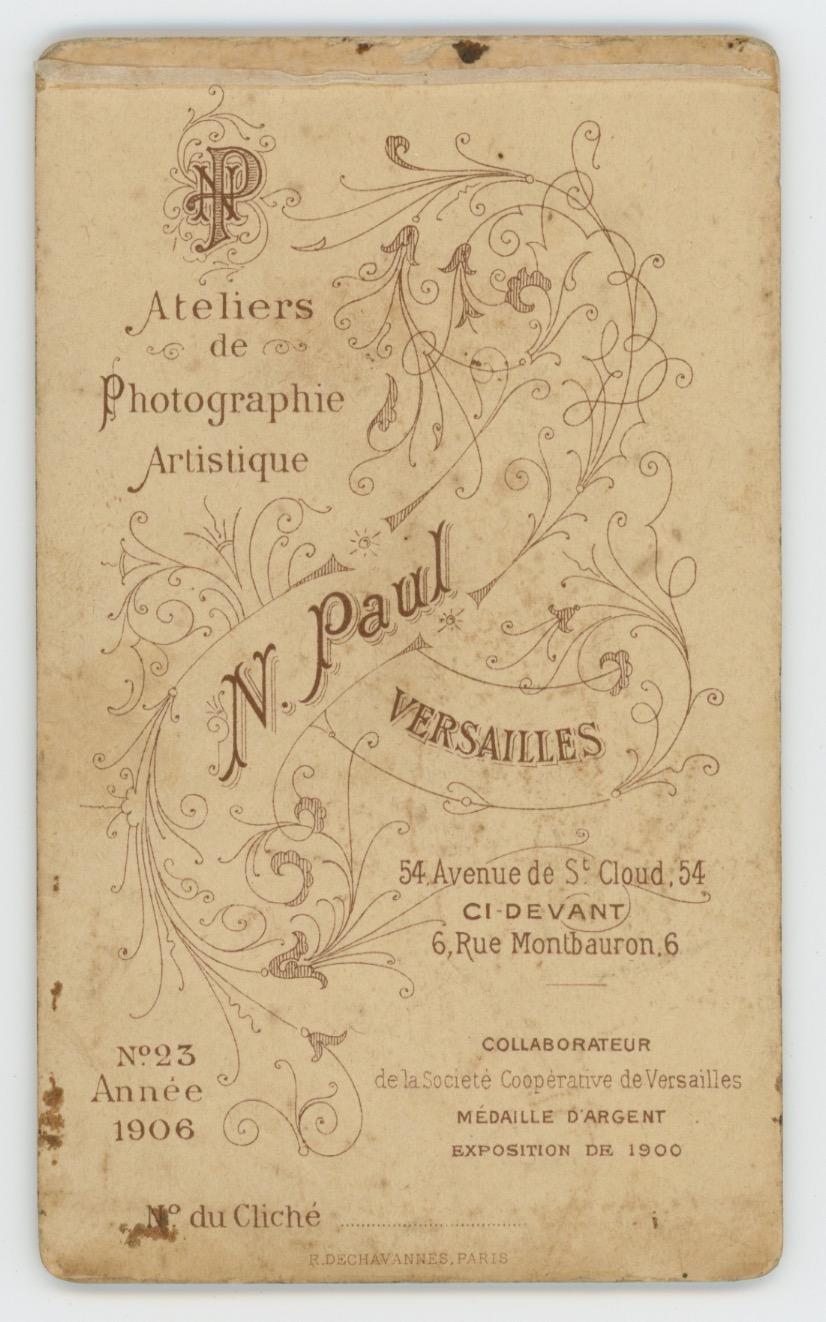 CDV Militaire - Ancienne Photographie - Genie - Uniforme - 3éme République - 5ème Régiment - Verdun - Versailles - 1906