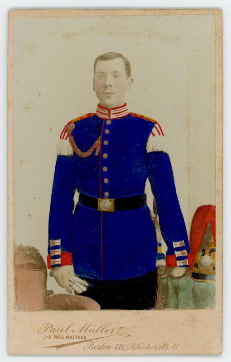 Carte CDV photo Soldat Allemand Infanterie - Réserviste - Service Militaire Berlin - Prusse - Garde Impériale - Garde Grenadier régiment N°2 - Kaiser Franz Garde-Grenadier-Regiment Nr. 2 - Grenadier-Regiment Nr. 2