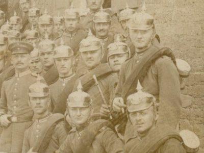 Carte Ancienne Photographie - Guerre 14/18 - Armée Allemande - Infanterie Garde Impériale - Alsacien - Conscription - Prusse