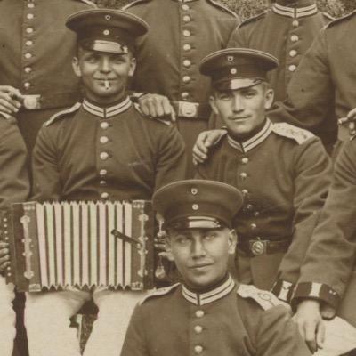 Carte Ancienne Photographie - Guerre 14/18 - Armée Allemande - Garde Impériale - Königin Elisabeth Garde-Grenadier-Regiment Nr. 3 - Alsacien - Conscription - Prusse Campagne 1914/1918