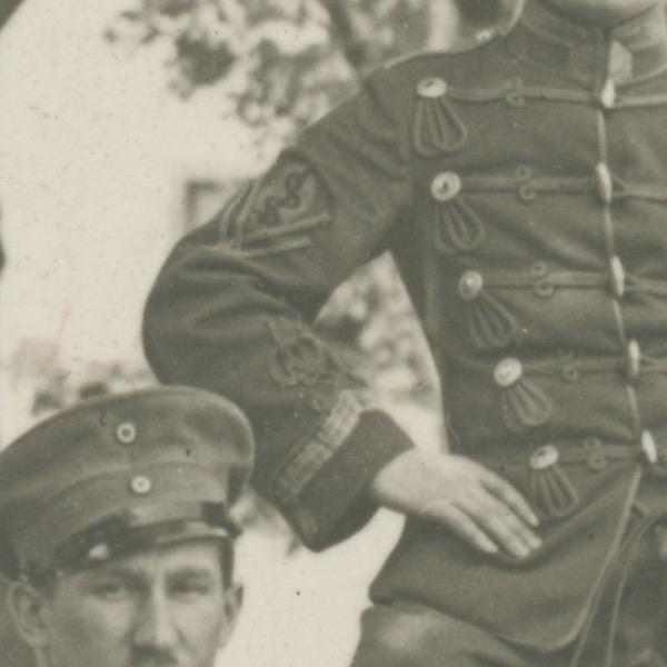 Carte Ancienne Photographie - Guerre 14/18 - Armée Allemande - Hussards - Alsaciens - Conscription - Prusse Campagne 1914/1918 - Croix de Guerre
