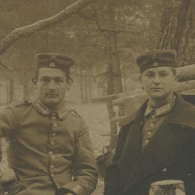 Carte Ancienne Photographie - Guerre 14/18 - Armée Allemande - Infanterie Garde Impériale - Alsacien - Conscription - Prusse Campagne - Casemate