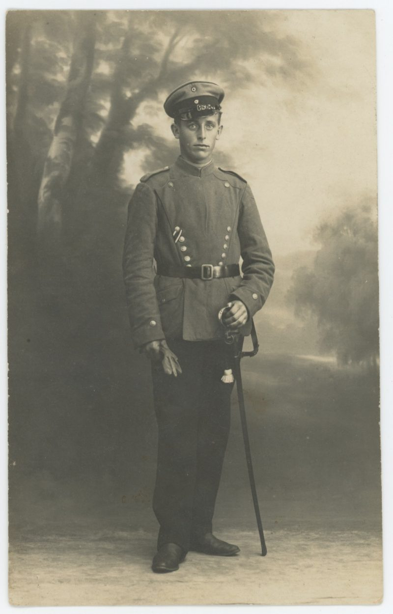 Carte Ancienne Photographie - Guerre 14/18 - Armée Allemande - 15 Lancier / Uhlan - Alsaciens - Conscription - Prusse Campagne 1914/1918