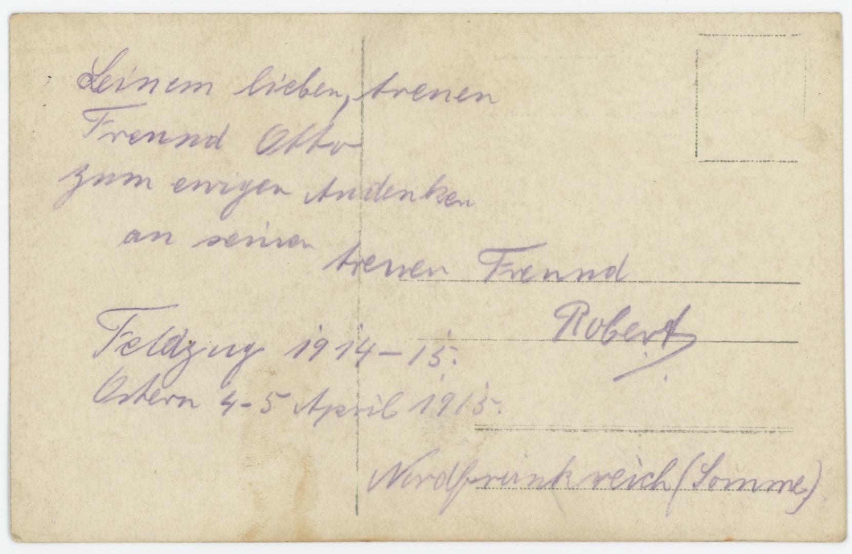 Carte Ancienne Photographie - Guerre 14/18 - Armée Allemande - Artillerie Canon - Alsacien - Conscription - Prusse Campagne 1914/1915 - Somme Avril 1915