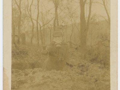 Carte Ancienne Photographie - Guerre 14/18 - Armée Allemande - Masque gaz - Alsacien - Conscription - Prusse Campagne 1914/1915 - 1915