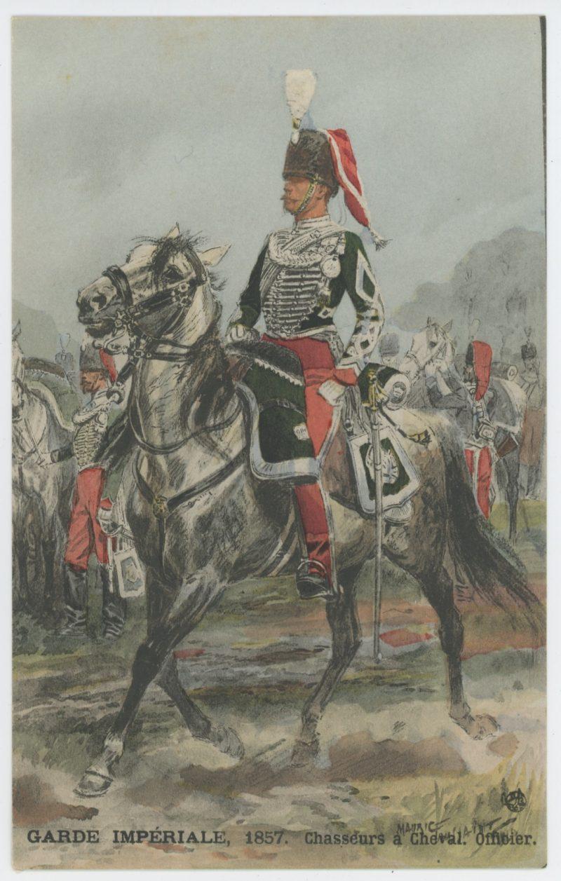 Série Complète - Cartes Postales Illustrées - Maurice Toussaint - Edition Leroy - Les unités de la Garde Impériale Second Empire - Uniforme