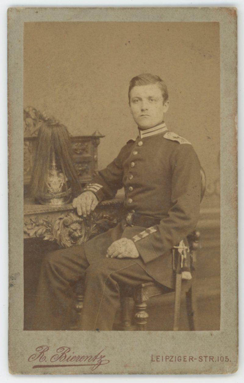 CDV Soldat Prusse - 1er régiment de grenadiers de la Garde Empereur Alexandre - Uniforme - Berlin - 1898 - 1900