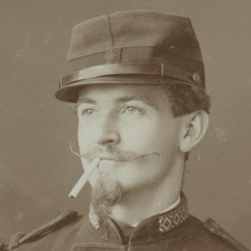 3 Cartes CDV photo 1873 - Uniforme Légion Etrangère 1er Régiment - Strasbourg - Militaire - Musicien - Début 3ème République
