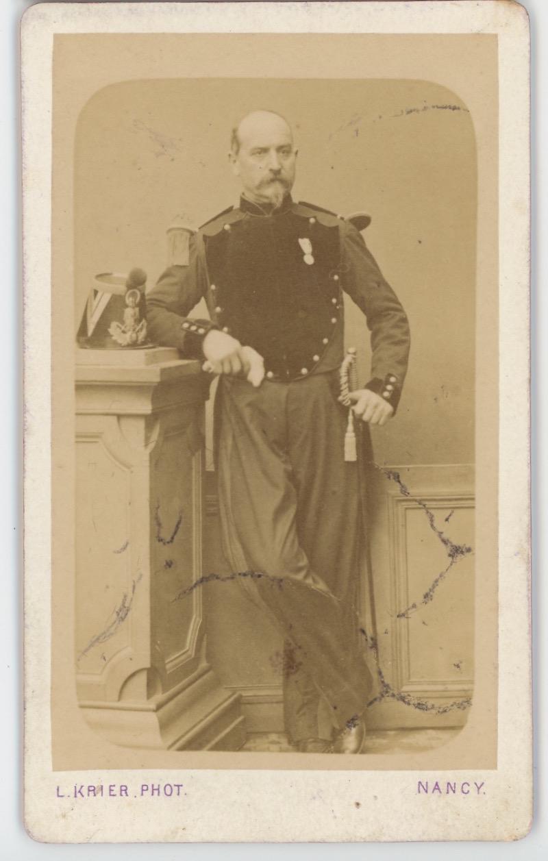 Carte CDV photo Second Empire - Uniforme Genie - Napoléon III - Militaire - Officier du génie. Militaria.