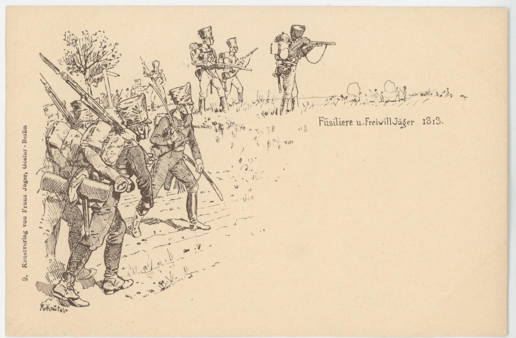 10 Cartes Postales Illustrées - Richard Knötel - Armée Prussienne - Prussian Army - 1709 - 1813