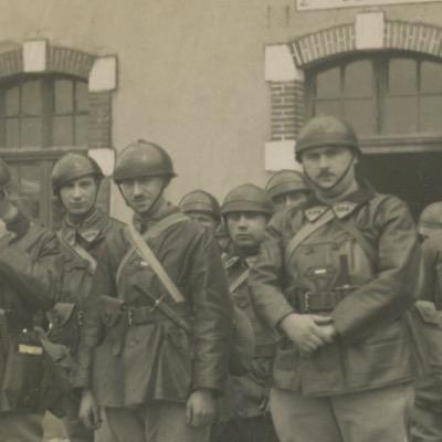Carte Ancienne Photographie - Char Renault FT - 508e régiment de chars de combat - Unité 1939 - Alsacien - Uniforme