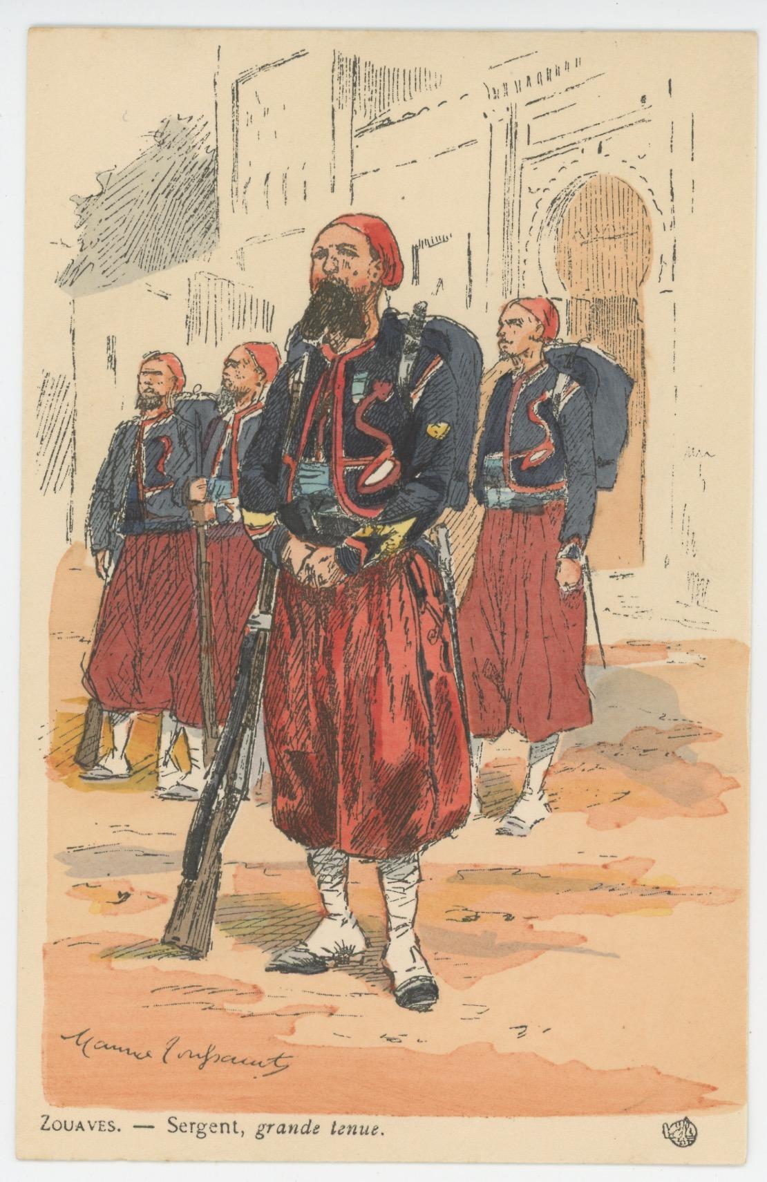 Série Complète - 12 Cartes Postales Illustrées - Maurice Toussaint - Edition Pierre Plument - Les Zouaves - Uniforme - Troisième République