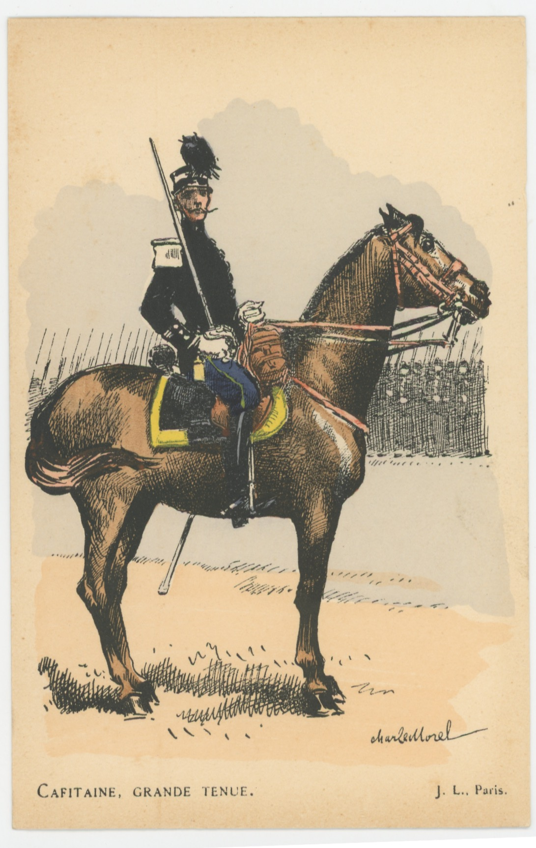 Série Complète - 13 Cartes Postales Illustrées - Charles Morel - Edition Pierre Plument - La Garde Républicaine - Uniforme - Troisième République