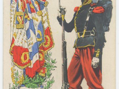 Carte Postale Illustrée - Malespina - Edition E.R.Paris - Infanterie Second Empire 1865 - Uniforme - Les costumes de l'armée